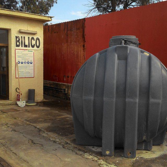 Posa impianto prima pioggia presso ECOMAC SMALTIMENTI SIRACUSA